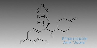Chemical structure of Jublia an option to treat toenail fungus
