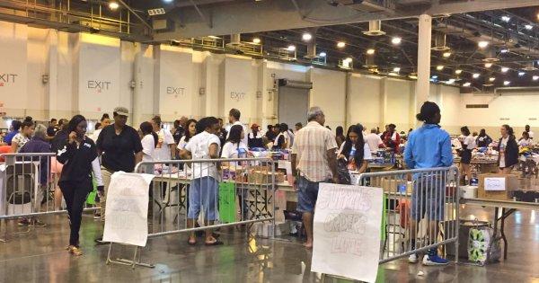 Houston's NRG Shelter for Hurricane Harvey Flood Relief