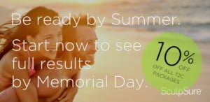 Ready by Summer SculpSure Special at Inkfree, MD Laser Clinic